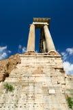 Templo de Saturn en el foro romano Fotografía de archivo libre de regalías