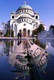 Templo de Sava del santo en Belgrado fotos de archivo