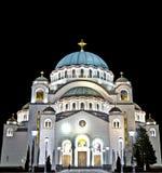 Templo de Sava del santo en HDR Imagen de archivo