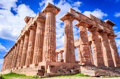 Templo de Selinunte em Sicília, Itália Foto de Stock
