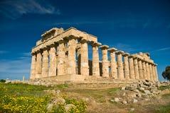 Templo de Selinunte na mola Imagem de Stock