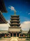 Templo de Senjoji em Asakusa, Tóquio Japão fotografia de stock royalty free