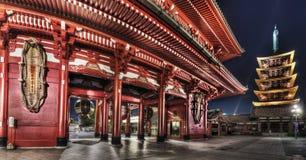 Templo de Senso-ji, Asakusa, Tóquio, Japão Imagens de Stock Royalty Free