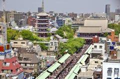 Templo de Senso-ji em Asakusa, Tóquio, Japão Imagens de Stock Royalty Free