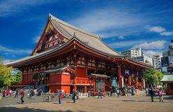 Templo de Senso-ji em Tokyo imagens de stock
