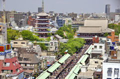 Templo de Senso-ji en Asakusa, Tokio, Japón Imágenes de archivo libres de regalías