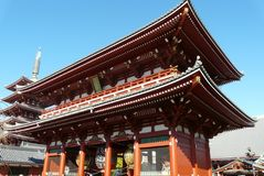 Templo de Senso-Ji en Tokio Fotos de archivo libres de regalías