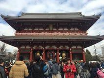 Templo de Sensoji, Asakusa-Japón 19 de febrero ' 16 Fotos de archivo