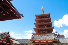 Templo de Sensoji, Asakusa, Tokyo, Japão Foto de Stock