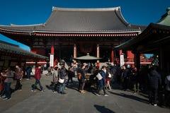 Templo de Sensoji no distrito de Asakusa fotografia de stock royalty free