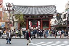 Templo de Sensoji no Tóquio, Japão Foto de Stock