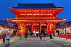 Templo de Sensoji, Tóquio, Japão fotografia de stock