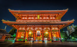 Templo de Sensoji, Tóquio - Japão foto de stock