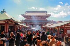 Templo de Sensoji, Tokio, Francia Imágenes de archivo libres de regalías