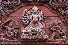 Templo de Shiva-Parvati, cuadrado de Durbar, Katmandu, Nepal Imagen de archivo libre de regalías