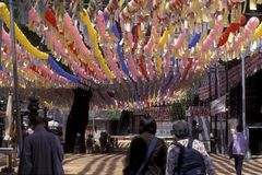 TEMPLO DE SOUTHKOREA SEUL YOGYESA fotografía de archivo libre de regalías