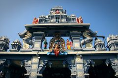 Templo de Sri Krishna Matha - Udupi, Karnataka, la India foto de archivo libre de regalías