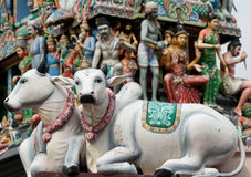 Templo de Sri Mariamman, templo hindú de Singapur. Foto de archivo libre de regalías