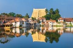 Templo de Sri Padmanabhaswamy na Índia de Trivandrum Kerala Fotografia de Stock