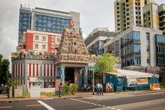 Templo de Sri Veeramakaliamman en la poca India, Singapur Fotografía de archivo