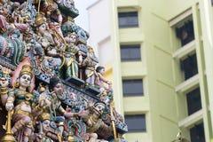 Templo de Sri Veeramakaliamman en Singapur imágenes de archivo libres de regalías
