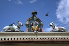 Templo de Sri Veeramakaliamman, la poca India, Singapur Imagen de archivo libre de regalías