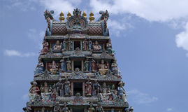 Templo de Sri Veeramakaliamman, la poca India, Singapur Foto de archivo libre de regalías
