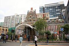 Templo de Sri Veeramakaliamman, la poca India, Singapur Foto de archivo