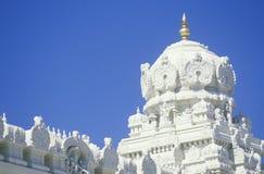 Templo de Sri Venkateshwara en Malibu California Imagenes de archivo