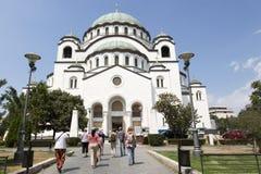 Templo de St Sava na capital sérvio de Belgrado Fotos de Stock Royalty Free
