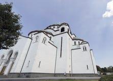 Templo de St Sava na capital sérvio de Belgrado Imagens de Stock