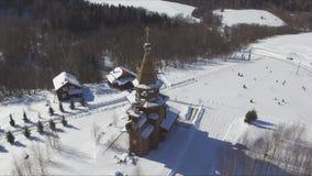 Templo de St Sergius de Radonezh almacen de metraje de vídeo