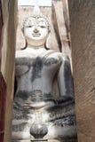 Templo de Sukhothai - de Wat Sri Chum - buddha na câmara Imagens de Stock
