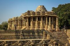 Templo de Sun, Modhera, la India Imágenes de archivo libres de regalías