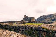 Templo de The Sun, ruínas de Ingapirca, Equador Fotos de Stock