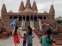 Templo de Swaminarayan Imágenes de archivo libres de regalías