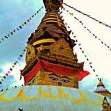Templo de Swayambhunath imagem de stock
