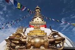 Templo de Swayambhunath imagen de archivo