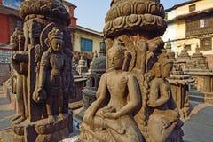 Templo de Swayambhunath em N foto de stock royalty free
