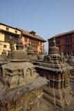 Templo de Swayambhunath em N fotos de stock