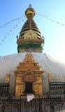 Templo de Swayambhunath em Nepal. fotografia de stock