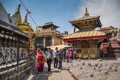 Templo de Swayambhunath en Kahtmandu, Nepal Imagenes de archivo