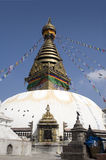 Templo de Swayambhunath - Nepal Fotos de Stock Royalty Free
