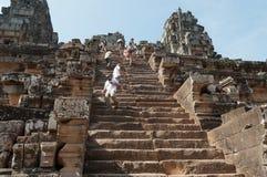 Templo de Ta Keo. Angkor. Camboja imagens de stock