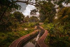 Templo de Taman Ayun, Bali budista Indonesia imagen de archivo libre de regalías