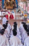 Templo de Tay Ninh Holy See Imagens de Stock Royalty Free