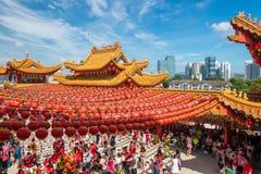 Templo de Thean Hou en Kuala Lumpur Fotos de archivo