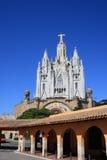 Templo de Tibidabo (Barcelona, España) Imagenes de archivo