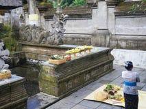 Templo de Tirta Empul, Bali, Indonésia imagem de stock