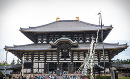 Templo de Todai-ji de Nara Imágenes de archivo libres de regalías